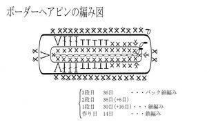 ボーダーヘアピンの編み図