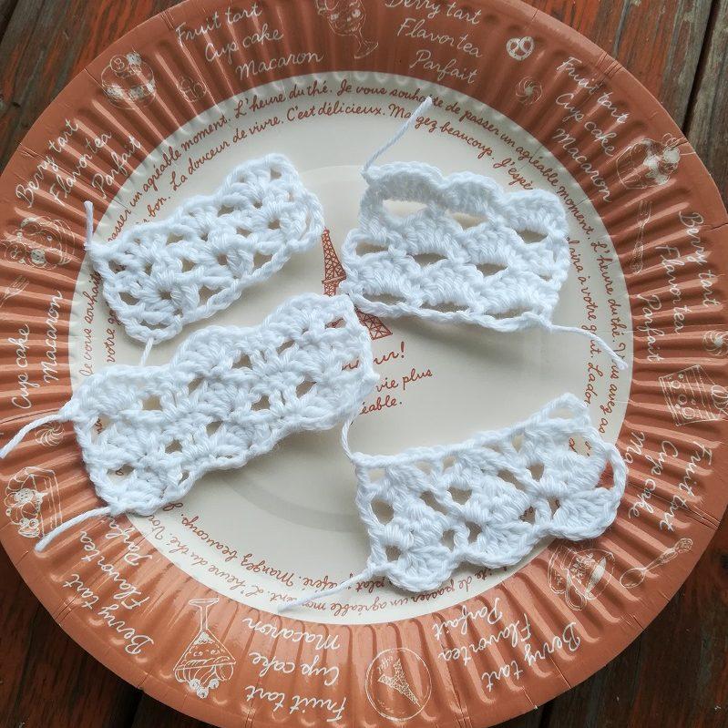 かぎ針編みの模様その11ー松編み、シェル編みの編み方