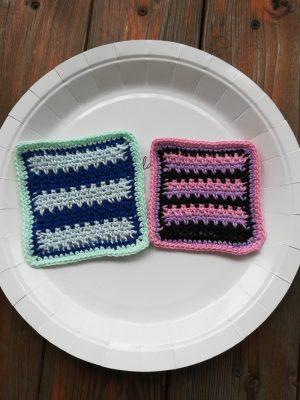 刺繍糸でかぎ針編み「よね編みのコースター」の編み方
