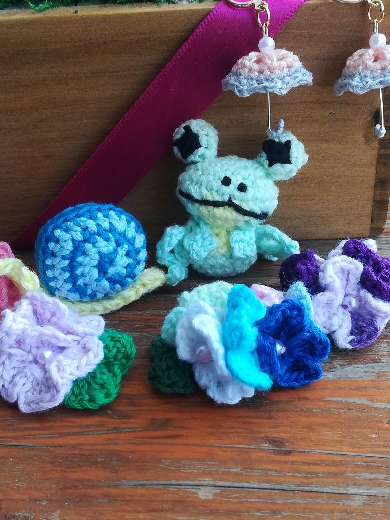 刺繍糸でかぎ針編み「カエル」の編み方