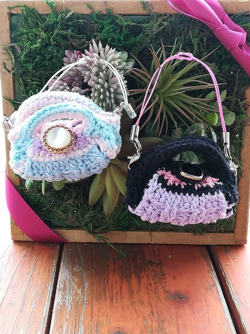 刺繍糸でかぎ針編み「ミニグラニ―バック」の作り方