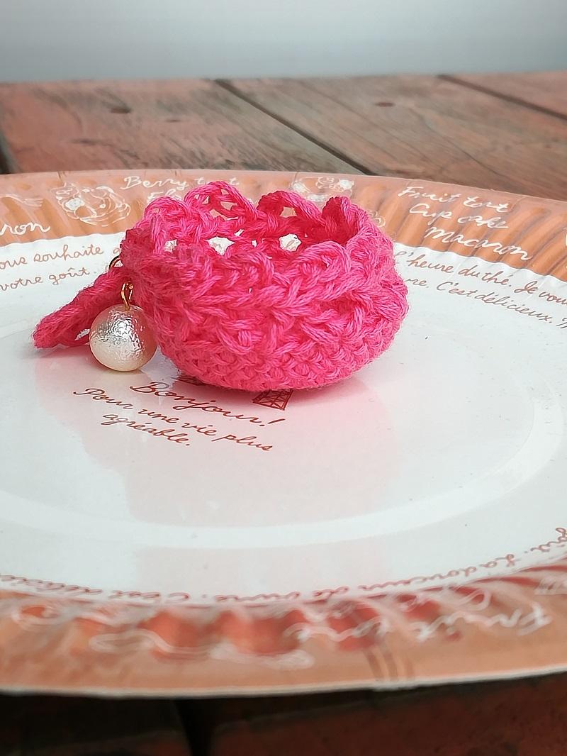 刺繍糸でかぎ針編み「ミニ小物入れ」の編み方