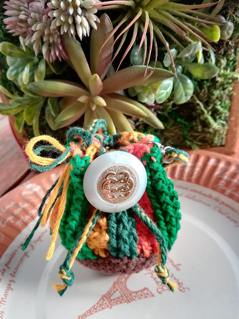 刺繍糸でかぎ針編み「ミニ巾着バック」の編み方