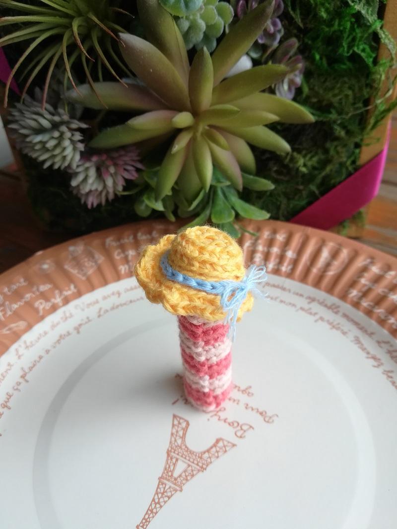 刺繍糸でかぎ針編み「麦わら帽子」の作り方