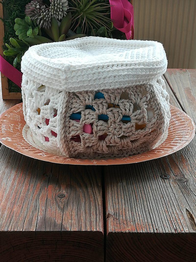 かぎ針編みで編む「5角形の小物入れ」の作り方