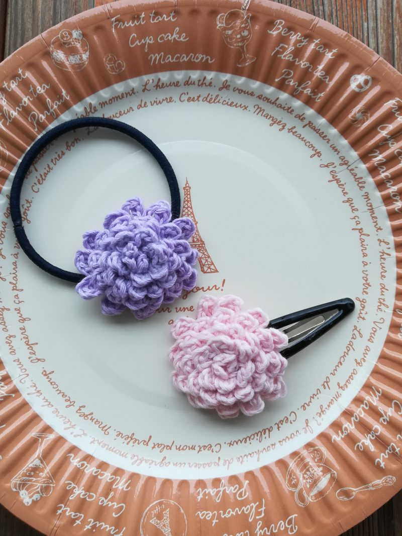 刺繍糸でかぎ針編み「ダリア」の編み方