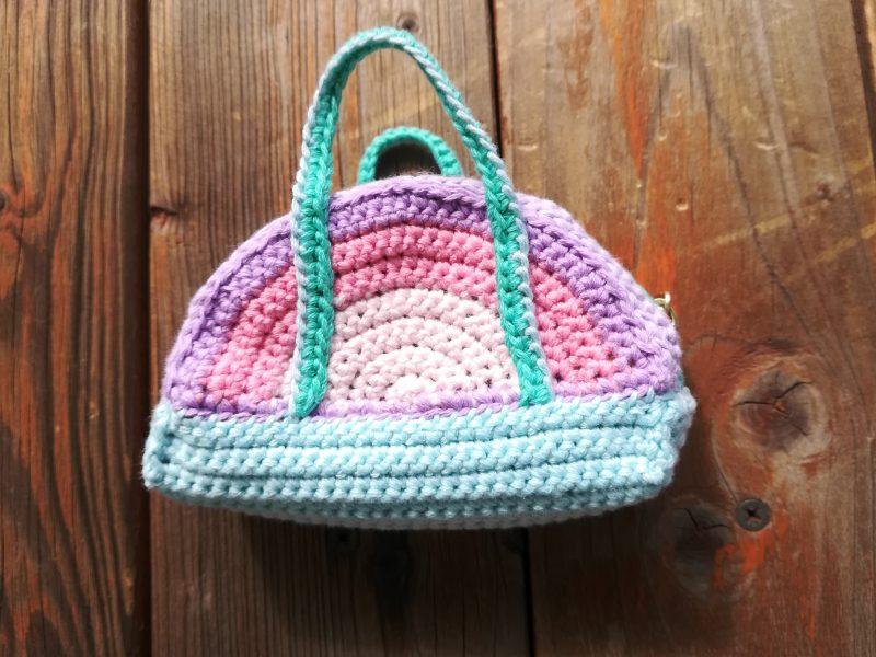 かぎ針編み「刺繍糸8束で半円ファスナーポーチ(裏布付き)」の編み方