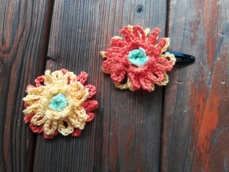 刺繍糸でかぎ針編み「ガーベラ」の編み方
