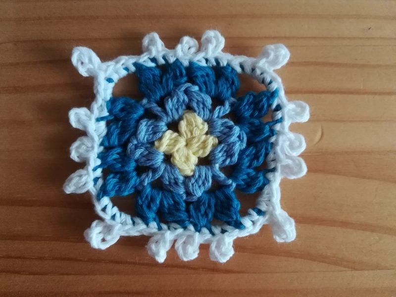 かぎ針編み「玉編みのモチーフ」の編み図