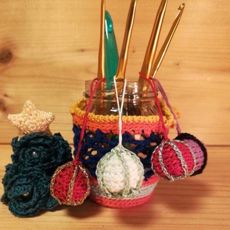 かぎ針編み「クリスマスオーナメント(ボール)」の編み方