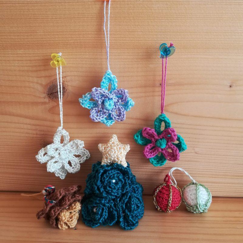 クリスマスオーナメント(お花)の編み方