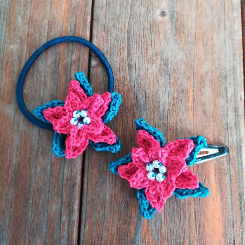 かぎ針編み「ポインセチア」の編み方