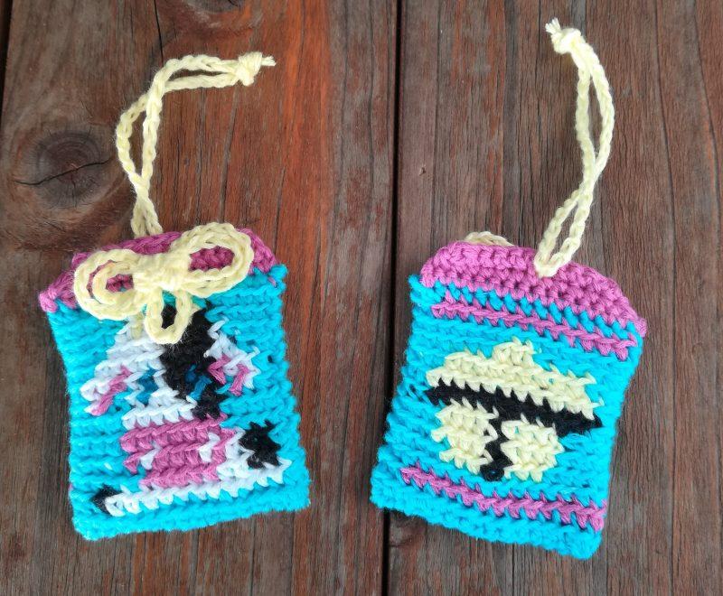 刺繍糸でかぎ針編み「うしと鈴のお守り」の編み方