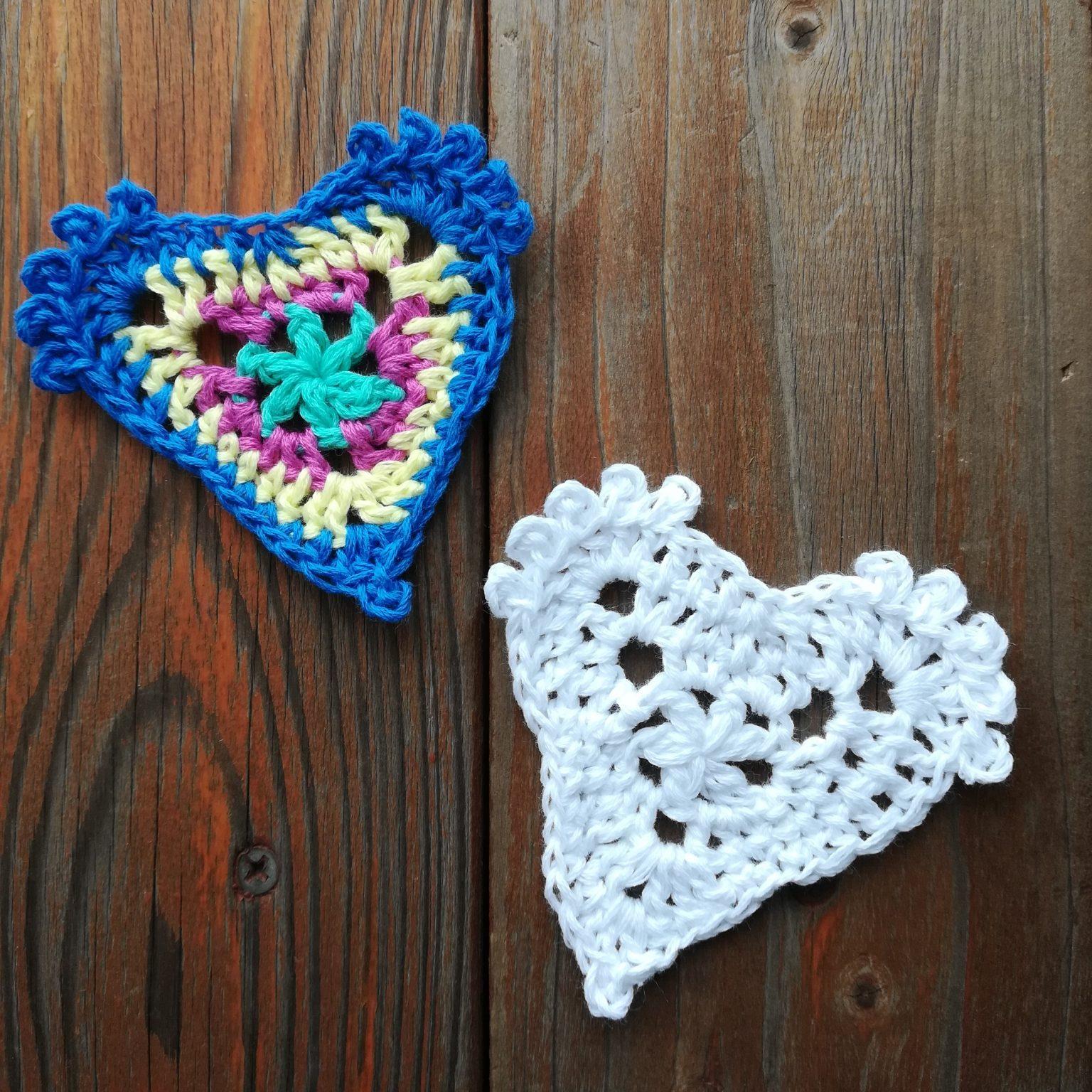 刺繍糸でかぎ針編み「バレンタインデーにも「ハートのモチーフ」」の編み方