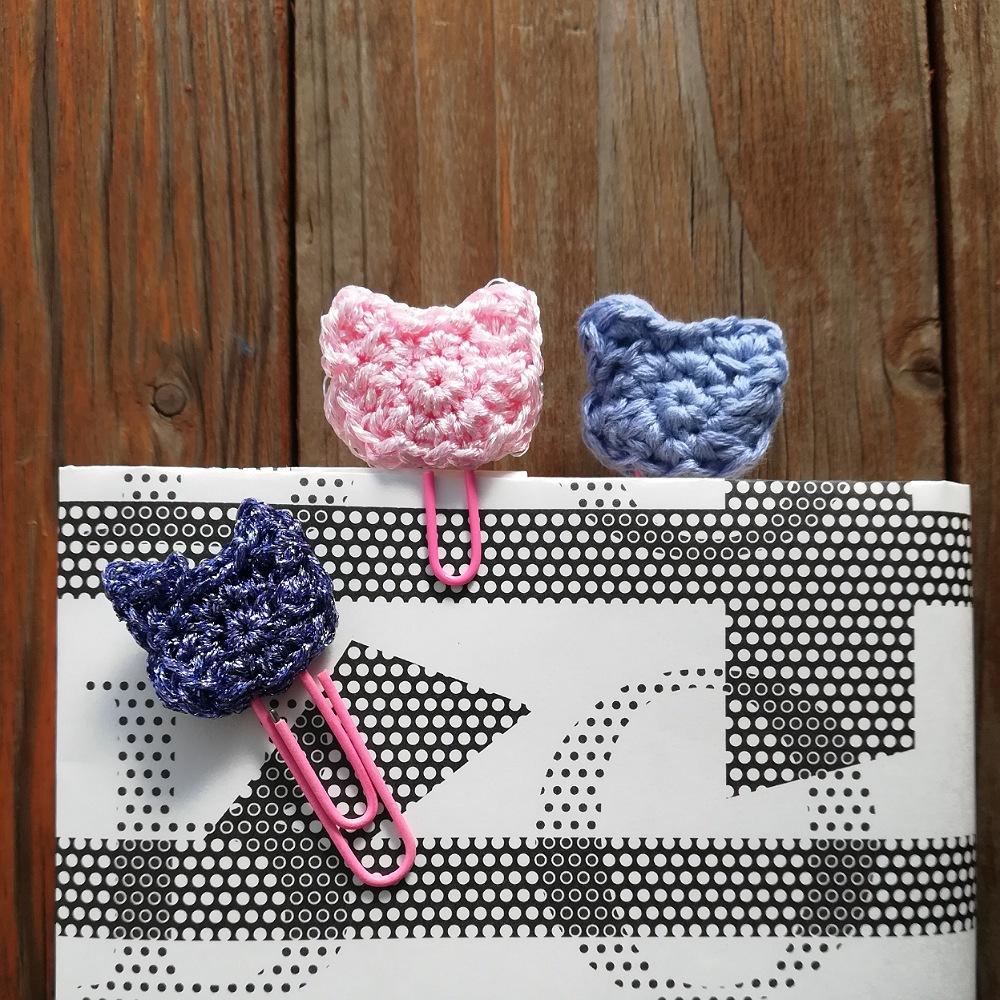 かぎ針編み「ネコのブックマーカー」の編み方