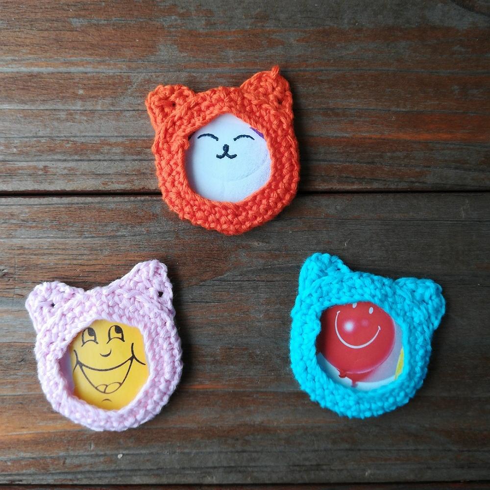 かぎ針編み「ネコのフォトフレーム」の編み方