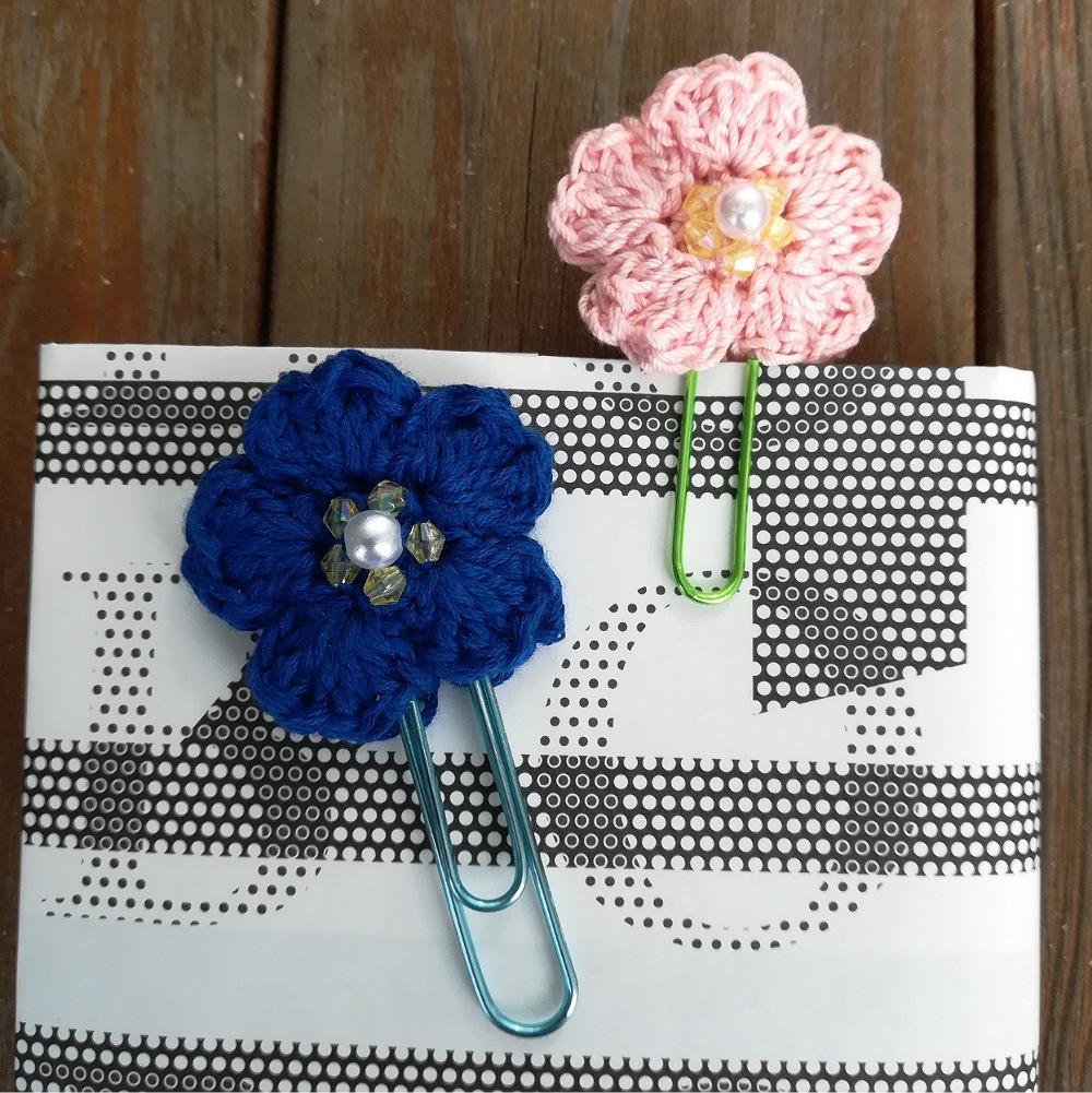 かぎ針編み「さくらのブックマーカー」の編み方