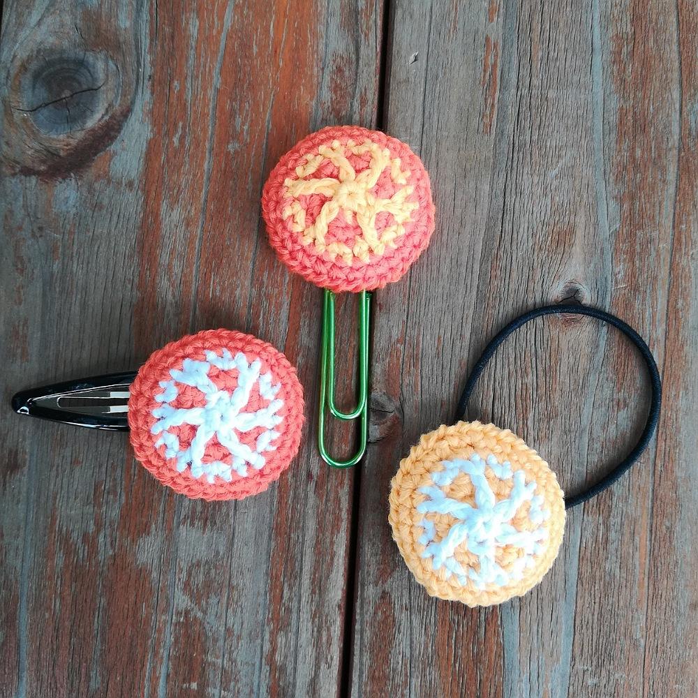 かぎ針編み「オレンジのモチーフ」の編み方