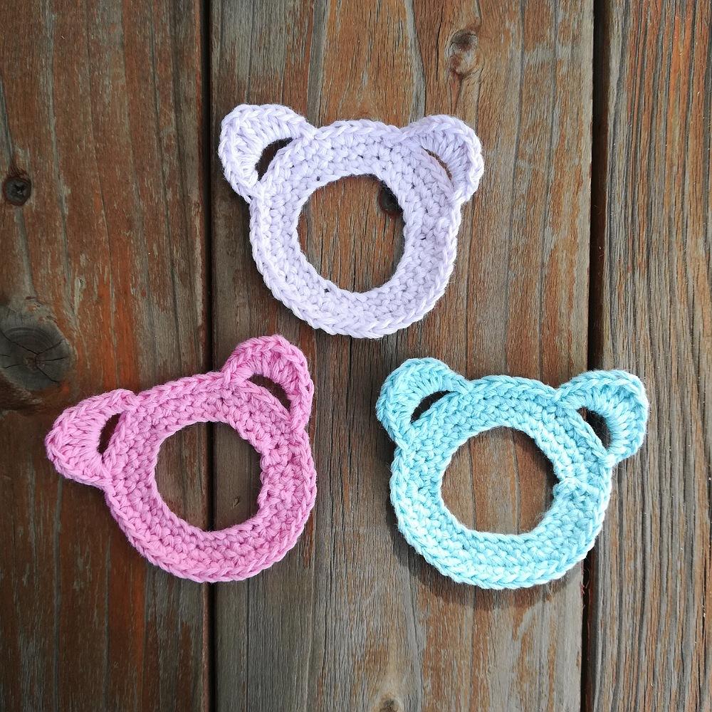 かぎ針編み「くまのフォトフレーム」の編み方