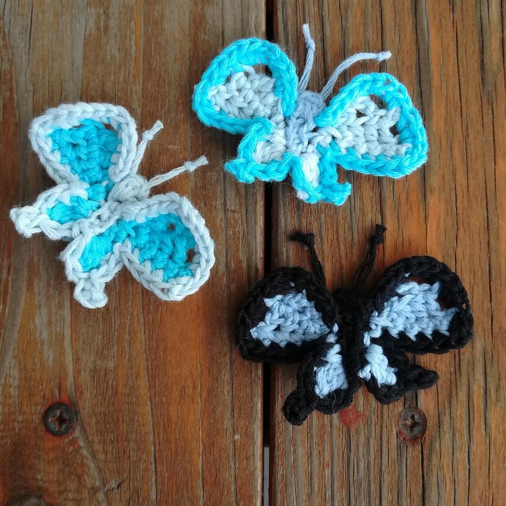 かぎ針編み「蝶々のモチーフ」その2の編み方