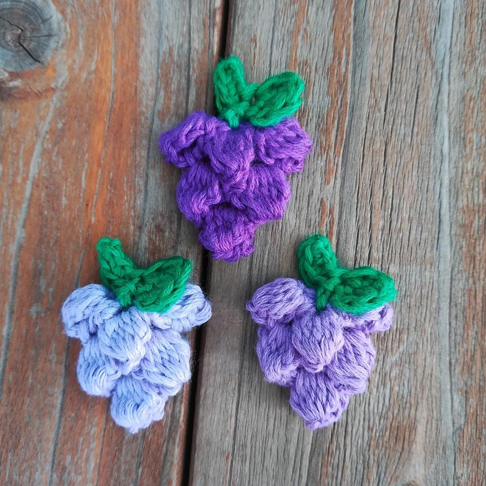かぎ針編み「ぶどうのモチーフ」の編み方