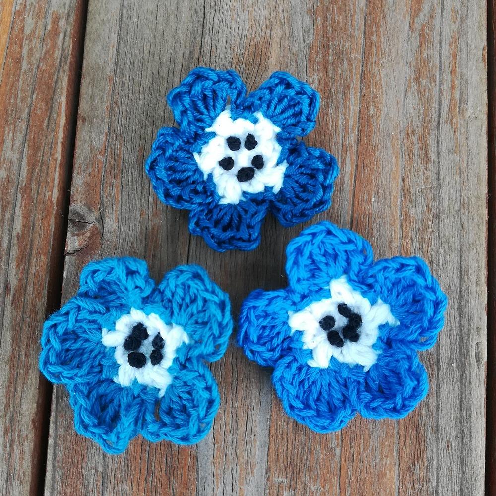かぎ針編み「ネモフィラのモチーフ」の編み方