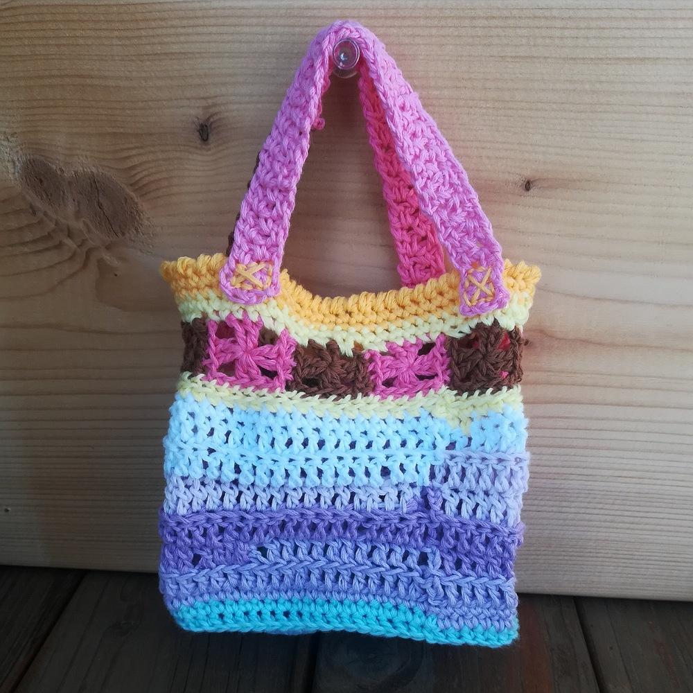 かぎ針編み「ミニ長方形バッグ」の編み方