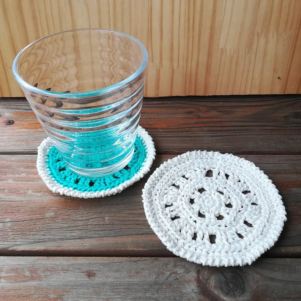 かぎ針編み【円形のコースター】編み図と編み方