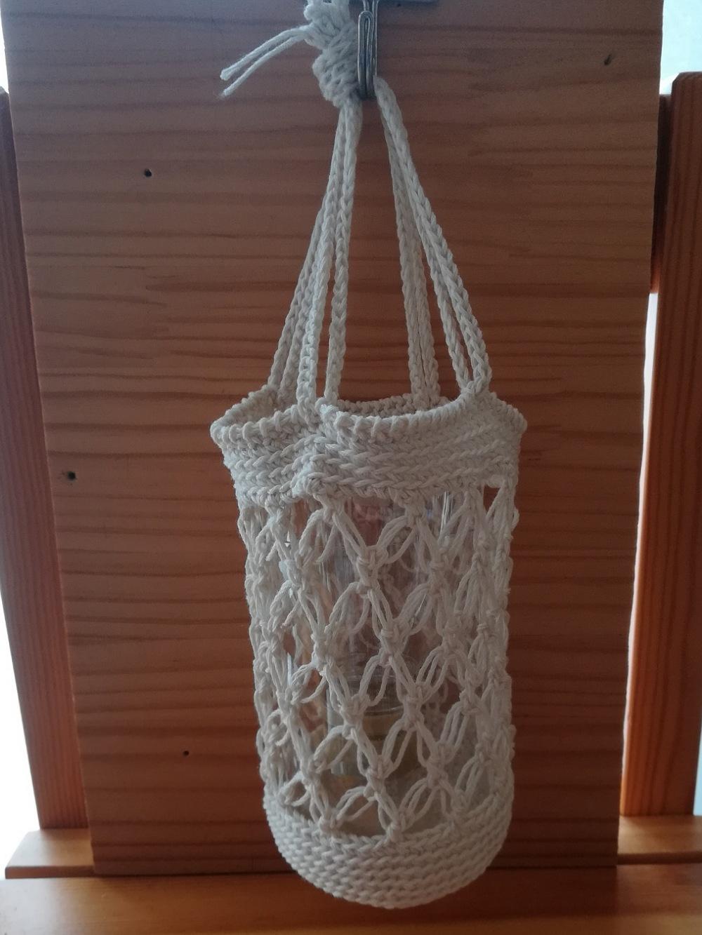 かぎ針編み「七宝編みのハンギングカバー」の編み方
