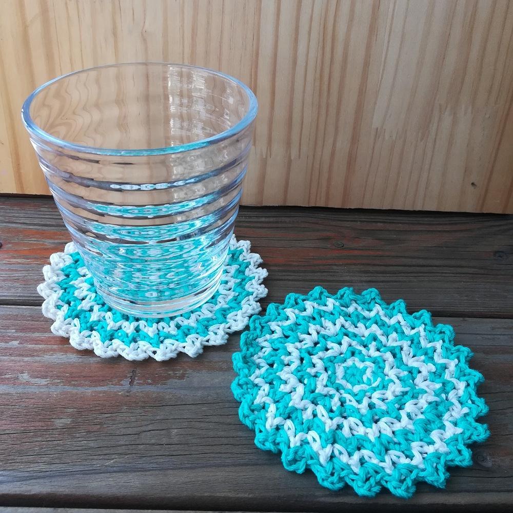 コースターの編み図と編み方