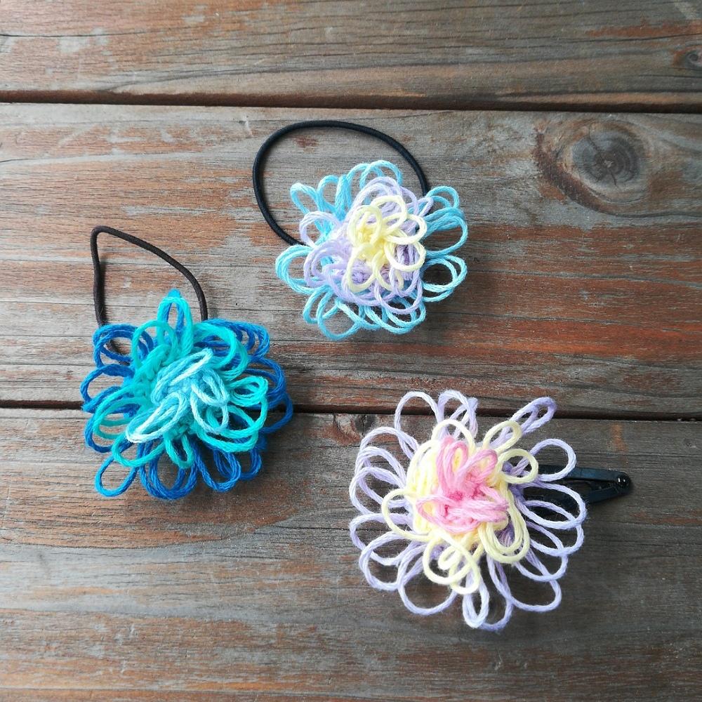 かぎ針編み「ふわふわなお花モチーフ」の編み方