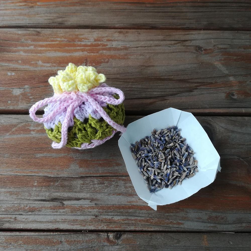 かぎ針編み【香り袋(サシェ・ポプリ)】編み図と編み方