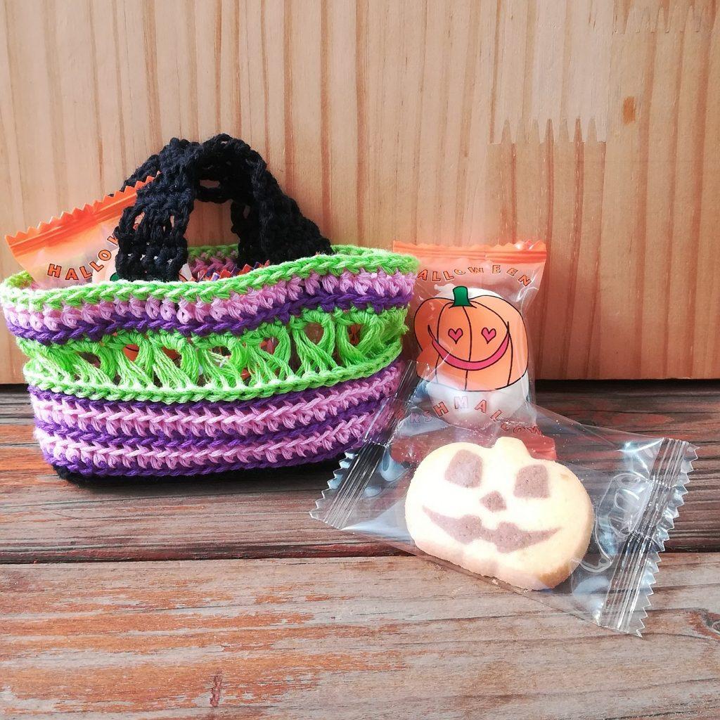 かぎ針編み「リング編みがポイントのミニバッグ」の編み方